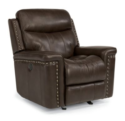 Flexsteel Grover Leather Power Glider Recliner
