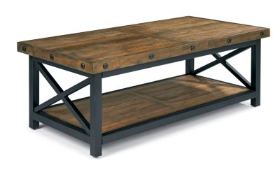 Flexsteel Carpenter Dark Rectangular Cocktail Table