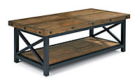 Flexsteel Carpenter Dark Rectangular Coffee Table