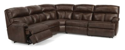 Flexsteel Triton 5-Piece 100% Leather Reclining Sectional