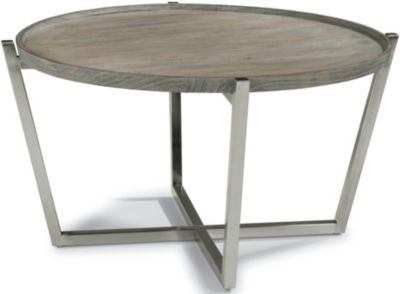 Flexsteel Platform Round Coffee Table
