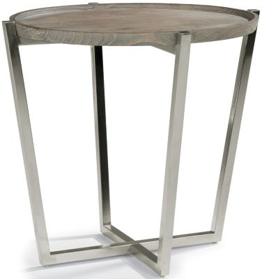 Flexsteel Platform Round End Table
