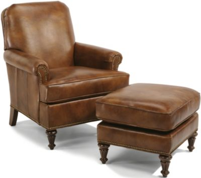 Flexsteel Flemington 100% Leather Accent Chair