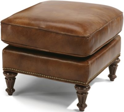 Flexsteel Flemington 100% Leather Ottoman