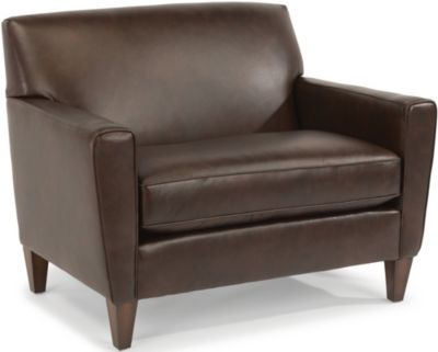 Flexsteel Digby 100% Leather Chair & 1/2