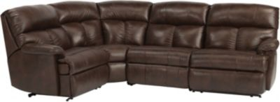 Flexsteel Triton 4-Piece 100% Leather Reclining Sectional