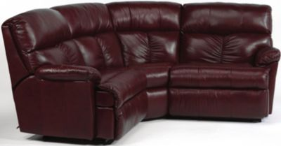 Flexsteel Triton 3-Piece Leather Reclining Corner Sectional