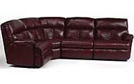 Flexsteel Triton 4-Piece Leather Reclining Corner Sectional