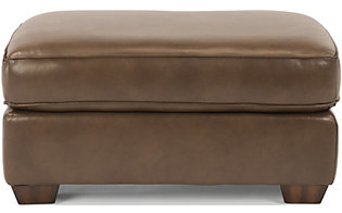 Flexsteel Thornton Mocha 100% Leather Ottoman