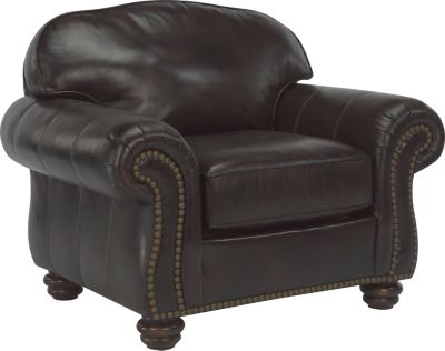 Flexsteel Bexley Brown 100% Leather Accent Chair