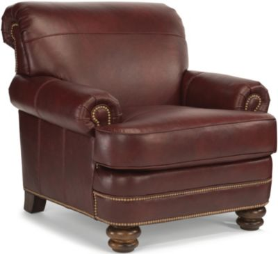 Flexsteel Bay Bridge 100% Leather Accent Chair