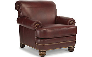 Flexsteel Bay Bridge Brown 100% Leather Accent Chair