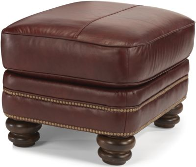 Flexsteel Bay Bridge 100% Leather Ottoman
