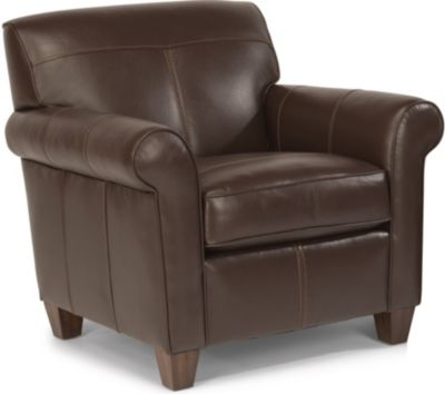Flexsteel Dana 100% Leather Accent Chair