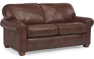 Flexsteel Thornton 100% Leather Full Sleeper Sofa