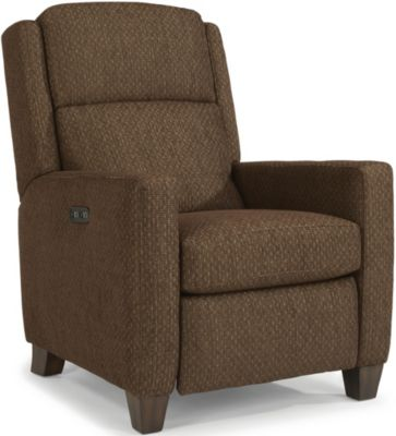 Flexsteel Carlin Brown High-Leg Power Recliner & Headrest