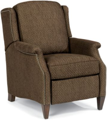 Flexsteel Zevon Brown High-Leg Power Recliner
