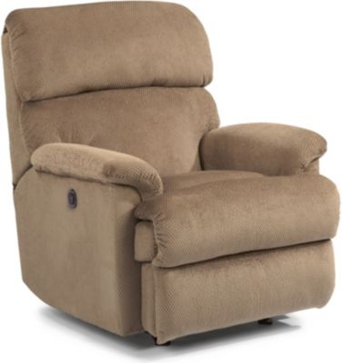 Flexsteel Chicago Tan Power Rocker Recliner