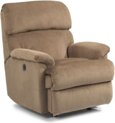 Flexsteel Chicago Tan Power Wall Recliner