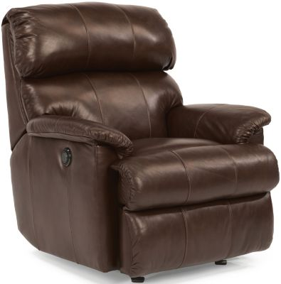 Flexsteel Chicago 100% Leather Power Rocker Recliner