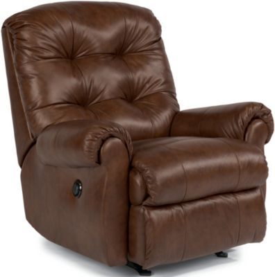 Flexsteel Torrence Brown Leather Power Wall Recliner