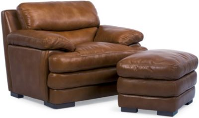Flexsteel Dylan 100% Leather Mocha Chair