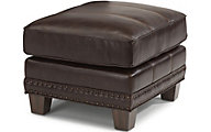 Flexsteel Port Royal Leather Ottoman