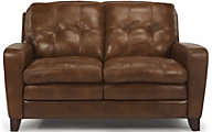 Flexsteel South Street 100% Leather Loveseat