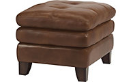 Flexsteel South Street 100% Leather Ottoman