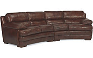 Flexsteel Dylan 100% Leather Conversation Sofa