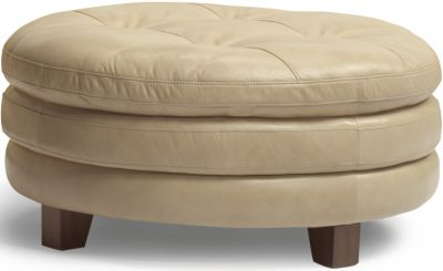 Flexsteel South Street 100% Leather Cocktail Ottoman