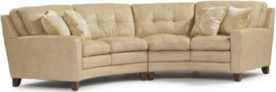 Flexsteel South Street 100% Leather 2-Piece Sectional