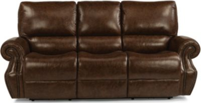 Flexsteel Colton Leather Power Reclining Sofa  sc 1 st  Homemakers Furniture & Flexsteel Colton Leather Power Reclining Sofa | Homemakers Furniture islam-shia.org