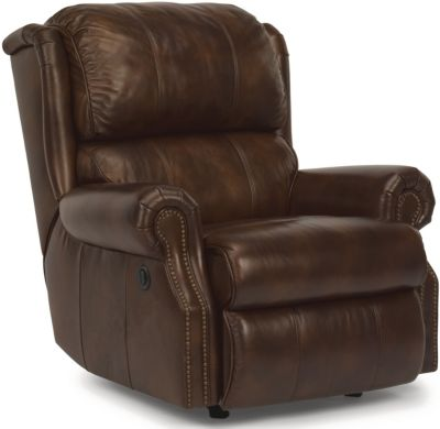 Flexsteel Comfort Zone 100% Leather Power Recliner