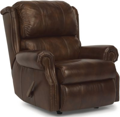 Flexsteel Comfort Zone 100% Leather Rocker Recliner