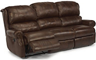 Flexsteel Comfort Zone 100% Leather Power Reclining Sofa