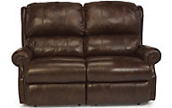 Flexsteel Comfort Zone 100% Leather Power Reclining Loveseat