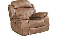 Flexsteel Como Tan Power Glider Recliner