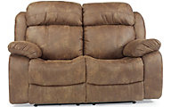 Flexsteel Como Tan Power Reclining Loveseat