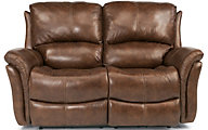 Flexsteel Dominique Leather Power Reclining Loveseat