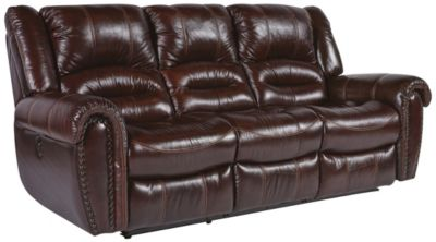 Flexsteel Crosstown Leather Reclining Sofa Homemakers