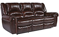 Flexsteel Crosstown Leather Power Reclining Sofa