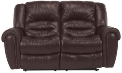 Flexsteel Crosstown Leather Power Reclining Loveseat Homemakers