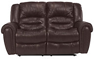 Flexsteel Crosstown Leather Power Reclining Loveseat