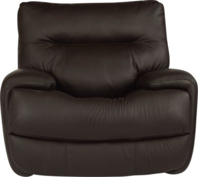Flexsteel Evian Leather Power Glider Recliner