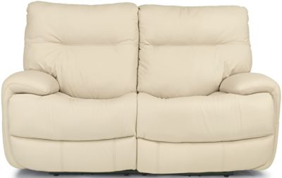 Flexsteel Evian Leather Power Reclining Loveseat