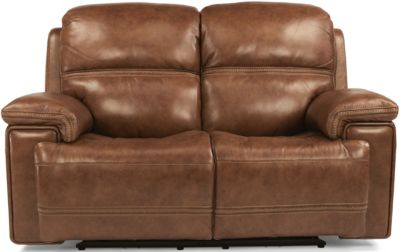 Flexsteel Fenwick Leather Power Reclining Loveseat
