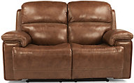 Flexsteel Fenwick Leather Power Loveseat