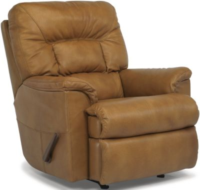 Flexsteel Great Escape Tan Leather Rocker Recliner
