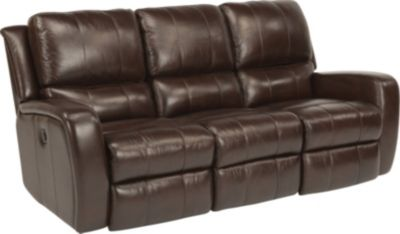 Flexsteel Hammond Brown Leather Power Reclining Sofa